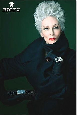 Carmen Dell'Orefice -(Born 1931) Such a stunning woman. Rolex ad.: