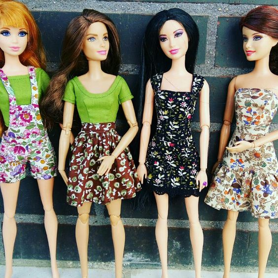 New outfits for Barbie.