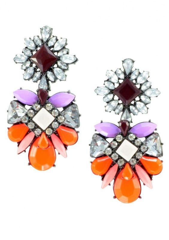 Auffällige Ohrringe Farbhimmel in orange