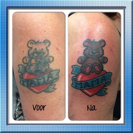 Oude tattoeage opgeknapt