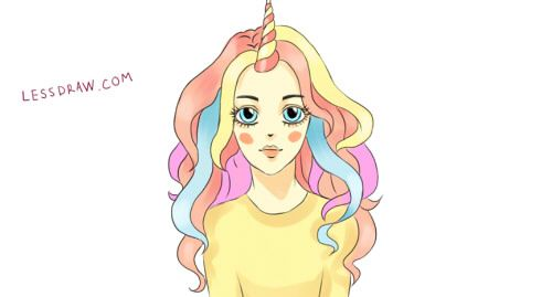 How To Draw Unicorn Girl Easy To Draw Unicorn Drawing Easy Drawings Drawings