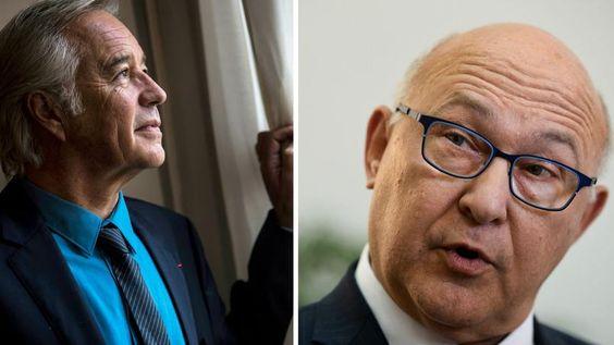 À gauche, François Rebsamen, actuel ministre du Travail. À droite, Michel Sapin, ancien ministre du Travail et actuel ministre de l'Économie.