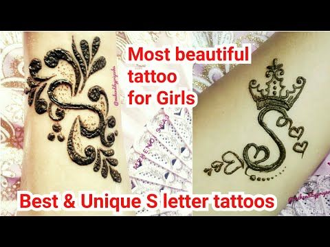 2 Unique \u0027S\u0027 letter henna tattoos for girls,New beautiful