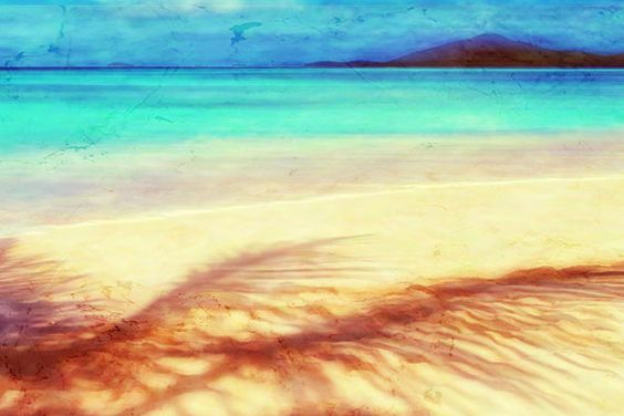 Abstract Landscape ocean beach art tropical teal aqua by lmlphoto, $30.00