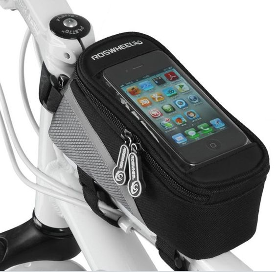 New Wholesale Waterproof Cycling Sport Bike Accessories Bicycle Frame Pannier Front Tube Bag For Cell Phone Red / Blue / Silver-in Other Sports & Entertainment Products from Sports & Entertainment on Aliexpress.com