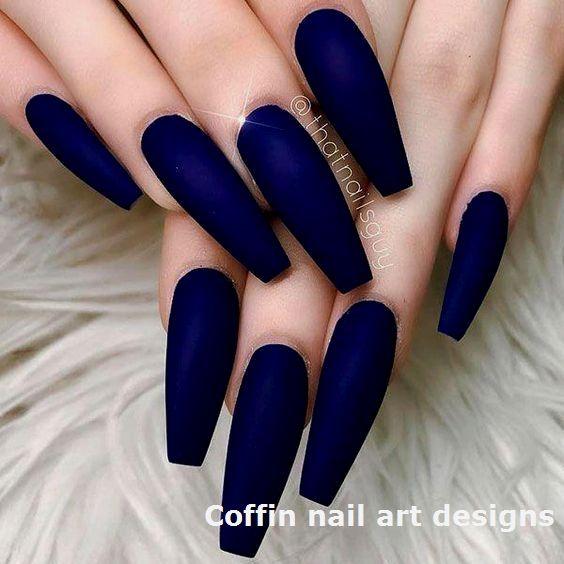 20 Trendy Coffin Nail Art Designs 1 Nailideas Coffinnail In 2020