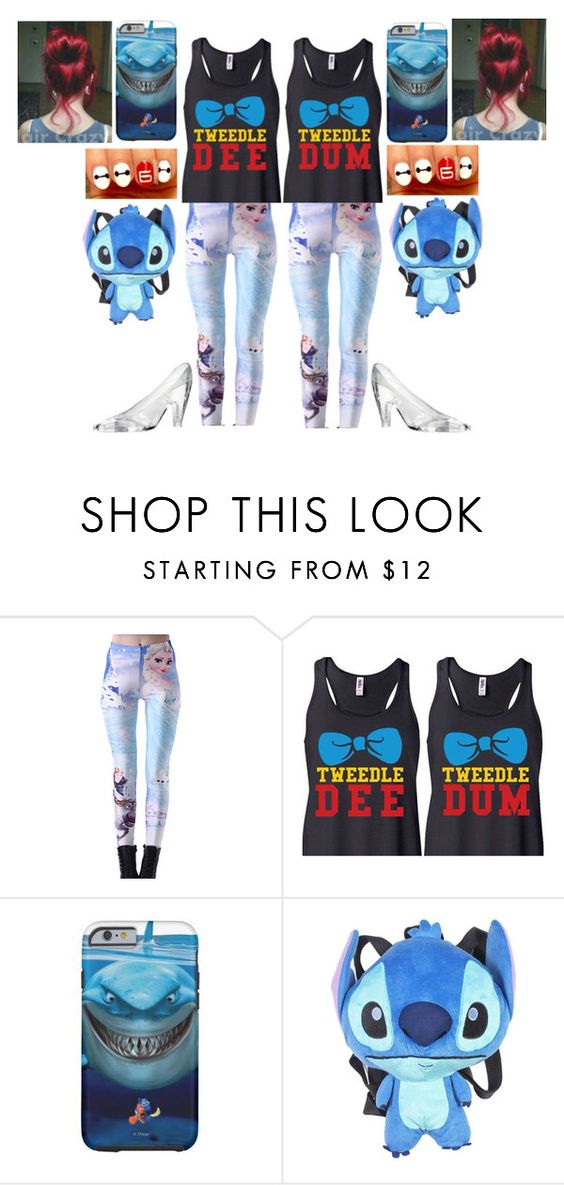 """""""Disney doubles"""" by themightytiff ❤ liked on Polyvore featuring Disney"""