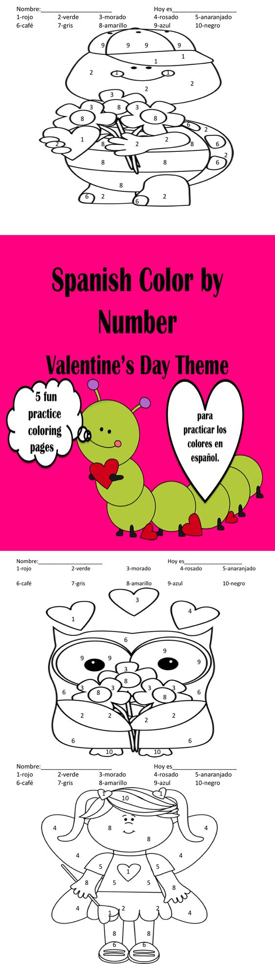 valentine coloring pages spanish - photo #7