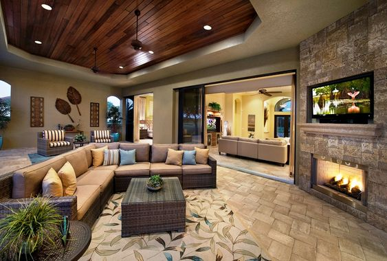 Outdoor living rooms outdoor living and living rooms on for Luxury outdoor living