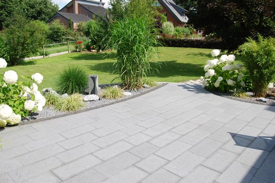 bildergebnis für terrasse steinplatten | garten | pinterest, Gartenarbeit ideen