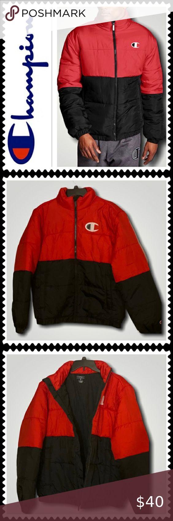 Champion Men S Stadium Puffer Jacket Mens Puffer Jacket Blue Puffer Jacket Camo Puffer Jacket [ 1692 x 564 Pixel ]