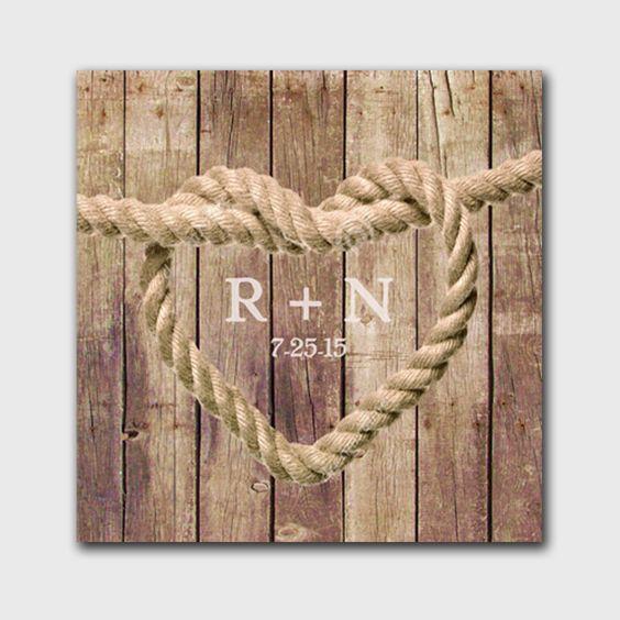5th Wedding Anniversary Gift - Love Knot Anniversary Canvas Print