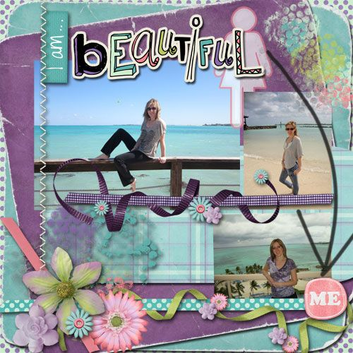 "Layout by MelissaKay using ""Simply Me"" Scrapbooking Kit by Simple Girl Scraps"
