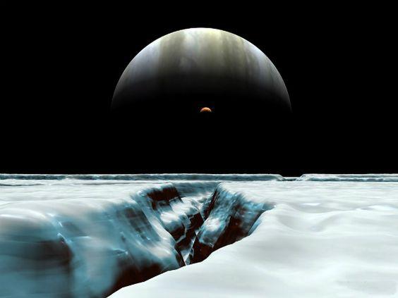 木星からみるイオ衛星の三日月