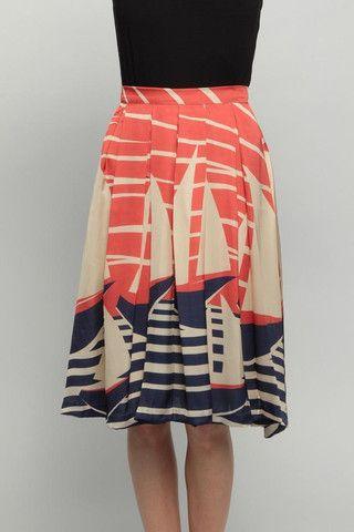 Eva Franco glen skirt. Love this color combo!
