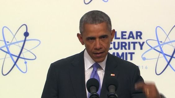 At the end of a nuclear security summit in Washington, U.S. President Barack Obama makes a push for increased intelligence-sharing to prevent extremist attacks. Rough Cut (no reporter narration).
