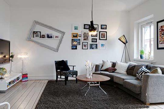 monochromatic, textured living room