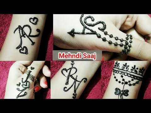 Couple Alphabet Mehndi Tattoos Tattoo Mehndi Design A R S A J Z R N Yout Alphabet Tattoo Designs Unique Mehndi Designs Mehndi Designs For Beginners