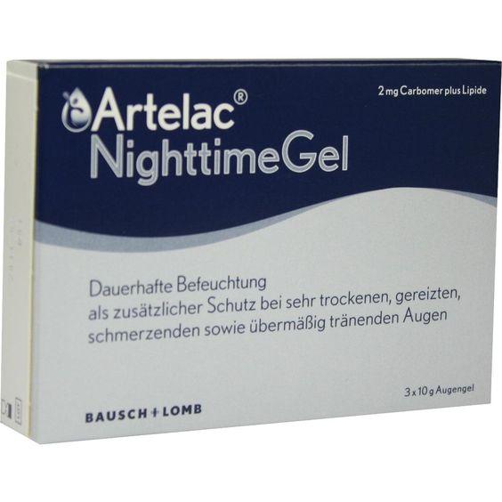 ARTELAC Nighttime Augengel:   Packungsinhalt: 3X10 g Augengel PZN: 07707228 Hersteller: Dr. Gerhard Mann GmbH Preis: 12,33 EUR inkl. 19 %…