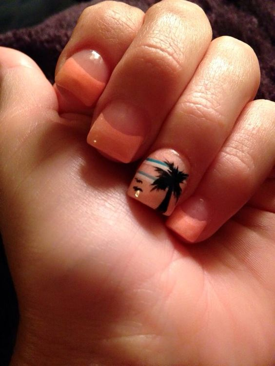 Love my new tropical solar nails!