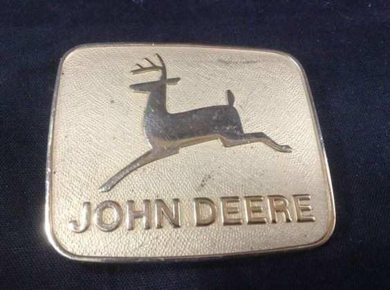 John Deere Belt Buckle Leaping Deer #JohnDeere