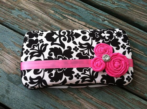 Hot Pink and Black Damask Boutique Style by CrystalCreations108, $10.50
