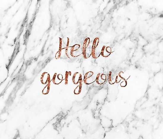 Hello Gorgeous Simple Elegant Luxe Match With Our Other Designs With More Insp Gold Wallpaper Background Rose Gold Marble Wallpaper Rose Gold Wallpaper White gold aesthetic desktop wallpaper