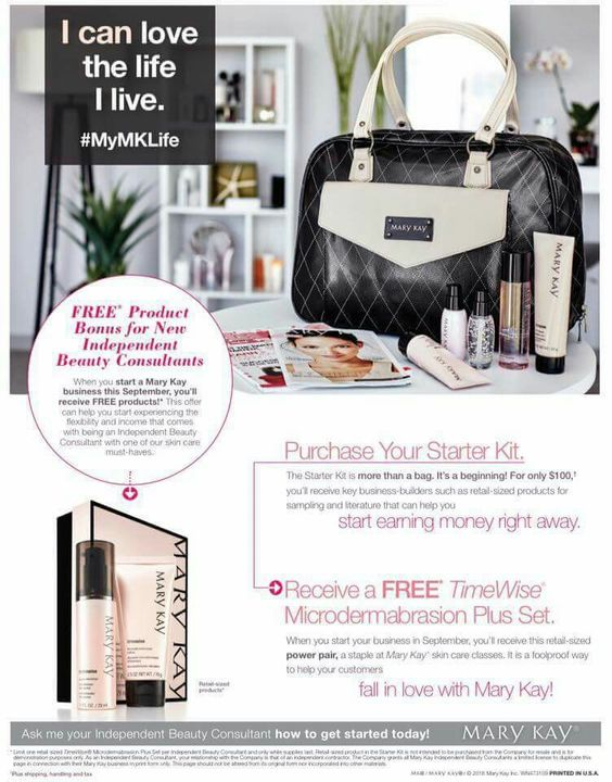 September Promotion ,Be your own Boss for only $100 or just Save on your  Personal Beauty Products , You will Receive FREE the Microdermabracion Set . Thats is a $500 dls worth of products for only $100 . Call /text or email me  btreminio@marykay.com , www.marykay.com/btreminio  www.facebook.com/treminiobrenda