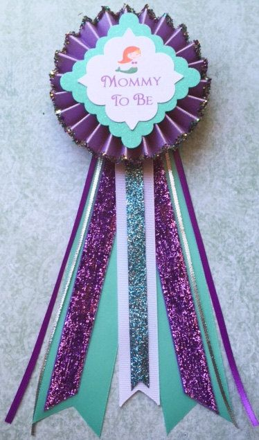 Good Baby Shower Corsage..Baby By GlitterGorgeous