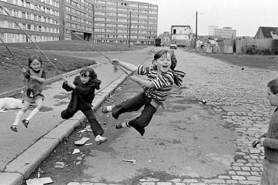 © Chris Steele-Perkins; Northern Ireland. West Belfast. Outside Divis Flats. 1978.: