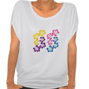 Shirt - Colorful Hibiscus