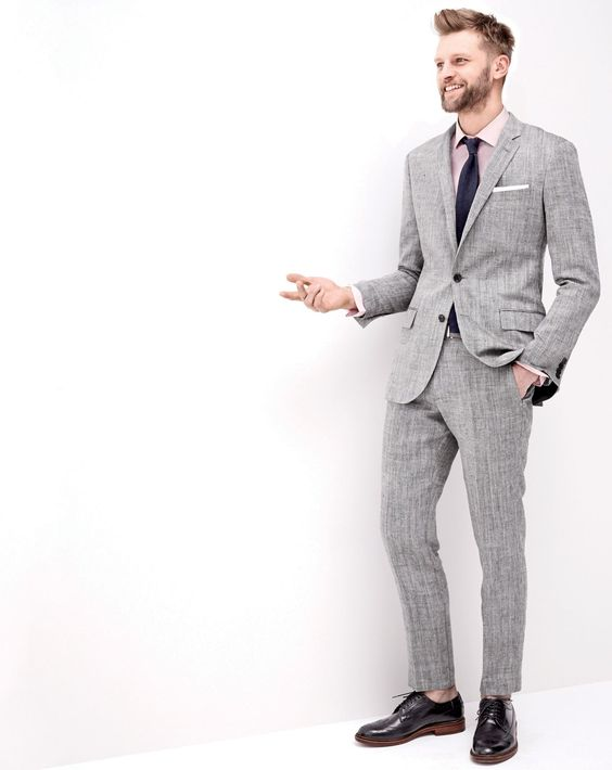 J.Crew men's herringbone Italian linen-silk Ludlow suit, Ludlow