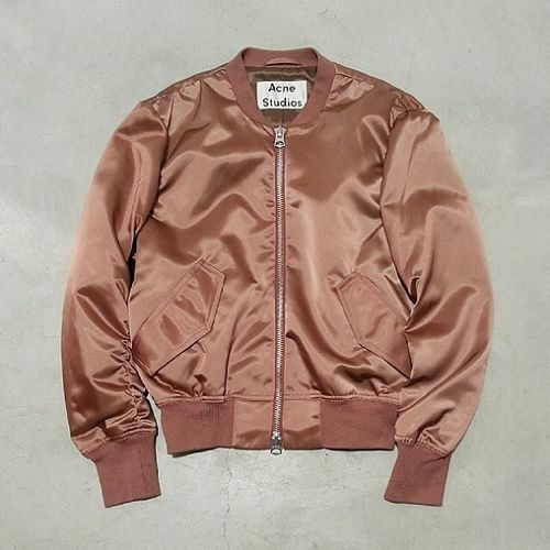#acnestudios | seriously need this adorable pink silk bomber