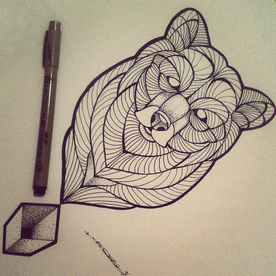 Broken Ink Tattoo - bear geometric tattoo https ...