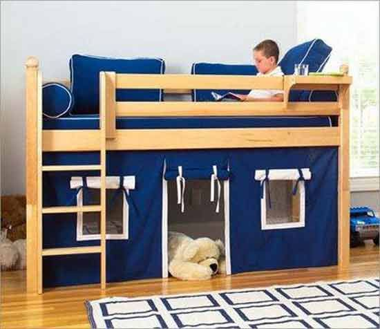 Bunk Bed/ Fort we could to this to our old bunk bed