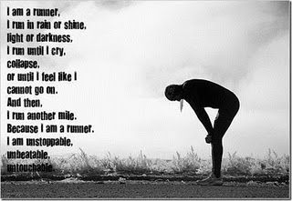 I am a runner. (well actually I am a slow jogger, but I'm working on it!)