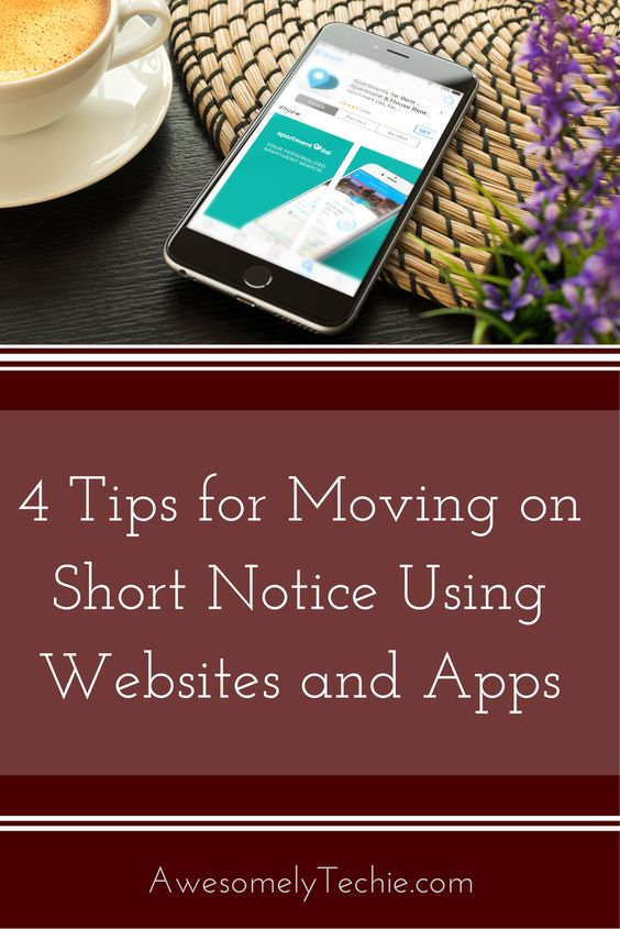Apps and Sites for Moving