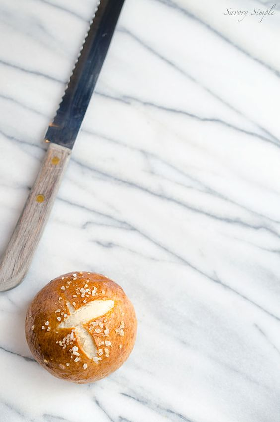 Perfect Chewy Pretzel Buns - Savory Simple