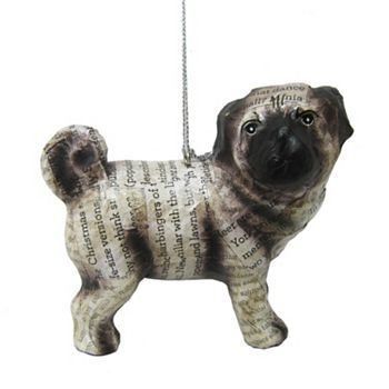 St. Nicholas Square Dog Christmas Ornament