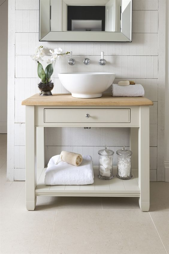 Neptune Bathroom Washstands - Chichester 850mm Oak Countertop Washstand