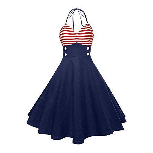 Women S Usa American Flag Dress Todaies Women Vintage Sle Https Www Amazon Com Dp B07cywbl9m Ref Cm S Vintage Dress Blue Vintage Dresses Vintage Red Dress