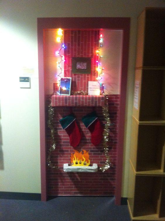 Decorating Ideas > Aarons Office Door Decorated For His Door Decorating  ~ 212114_Door Decorating Ideas Fireplace