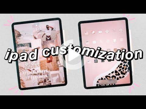 How To Make Your Ipad Aesthetic Ipad Pro Customization In 2021 Ipad Hacks Ipad Organizer Ipad