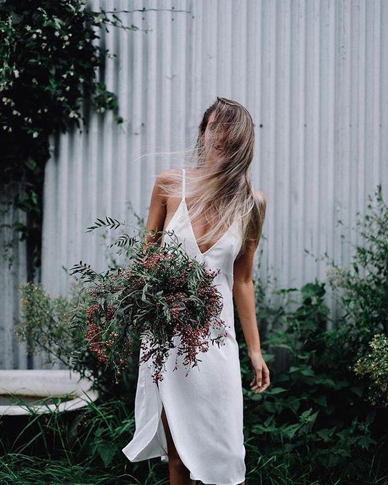 Image via a feminine tomboy flower shop pinterest for Wedding dresses for tomboy brides
