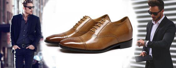 Chamaripa Shoes احذية زيادة الطول تطويل القامة احذية كعب عالي رافعة احذية أحذية مريحة وأنيقة للرجال Dress Shoes Men Oxford Shoes Shoes