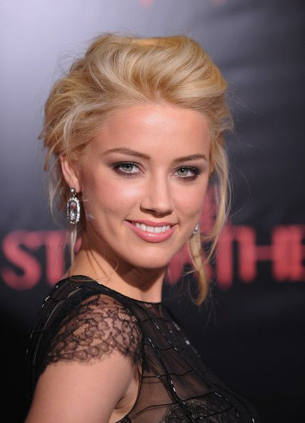 More Pics of Amber Heard Messy Updo (13 of 25) - Messy Updo Lookbook - StyleBistro