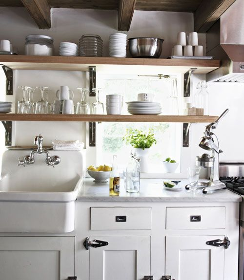 deep country kitchen sink: White Kitchen, Kitchen Sink, Country Kitchen, Kitchen Design, Farmhouse Kitchen, Farmhouse Sink