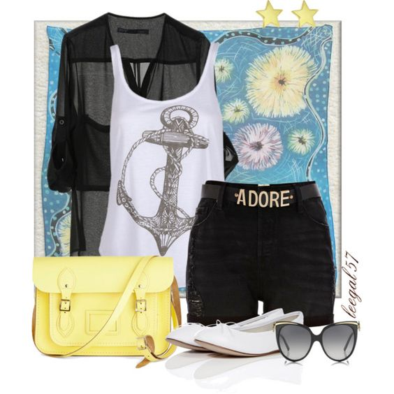 Black and Blossoms by leegal57 on Polyvore featuring polyvore, fashion, style, Billabong, River Island, Repetto, The Cambridge Satchel Company, Jennifer Meyer Jewelry, Bulgari and clothing