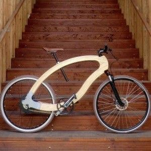 """Soll den CO2-Fußabdruck eines herkömmlichen Rades deutlich reduzieren: das """"Wood-eBike"""" der HNEE."""
