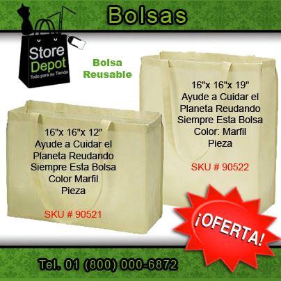 Ayuda a mejorar el #MedioAmbiente adquiriendo #bolsas reusables para tu tienda. #Recicla e incrementa tus ganancias.